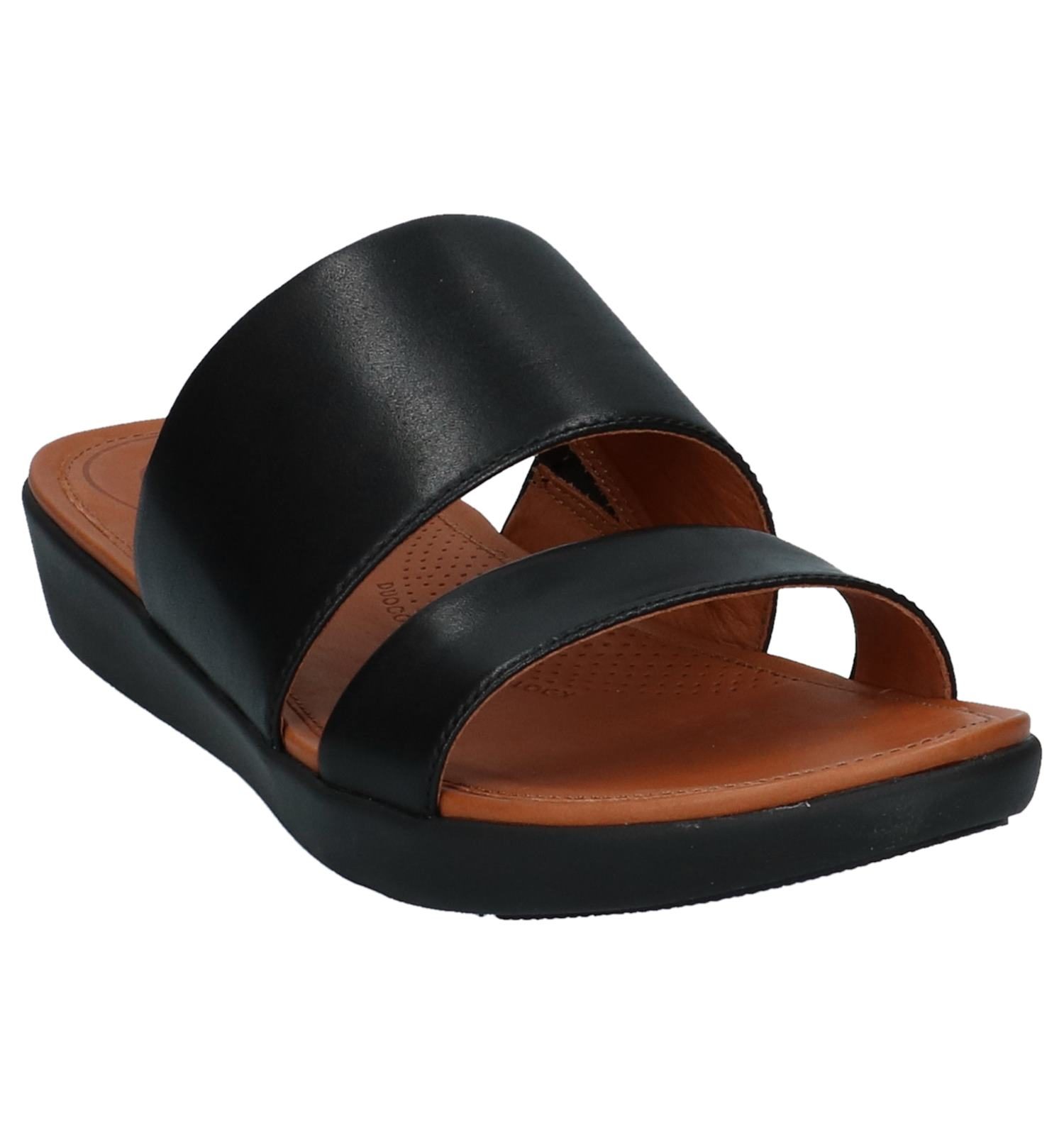 cb1b56a1c57ea FitFlop Delta Slide Sandals Zwart