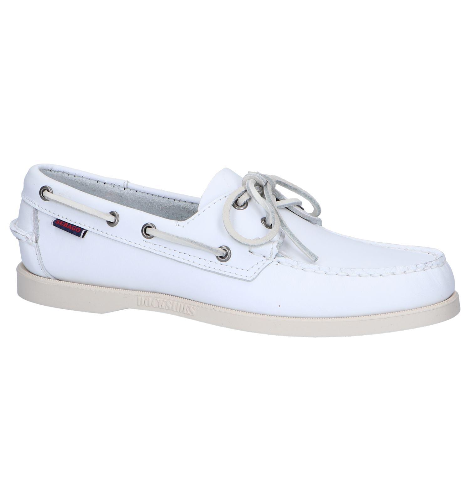 Witte Bootschoenen Sebago Dockside | TORFS.BE | Gratis verzend en retour
