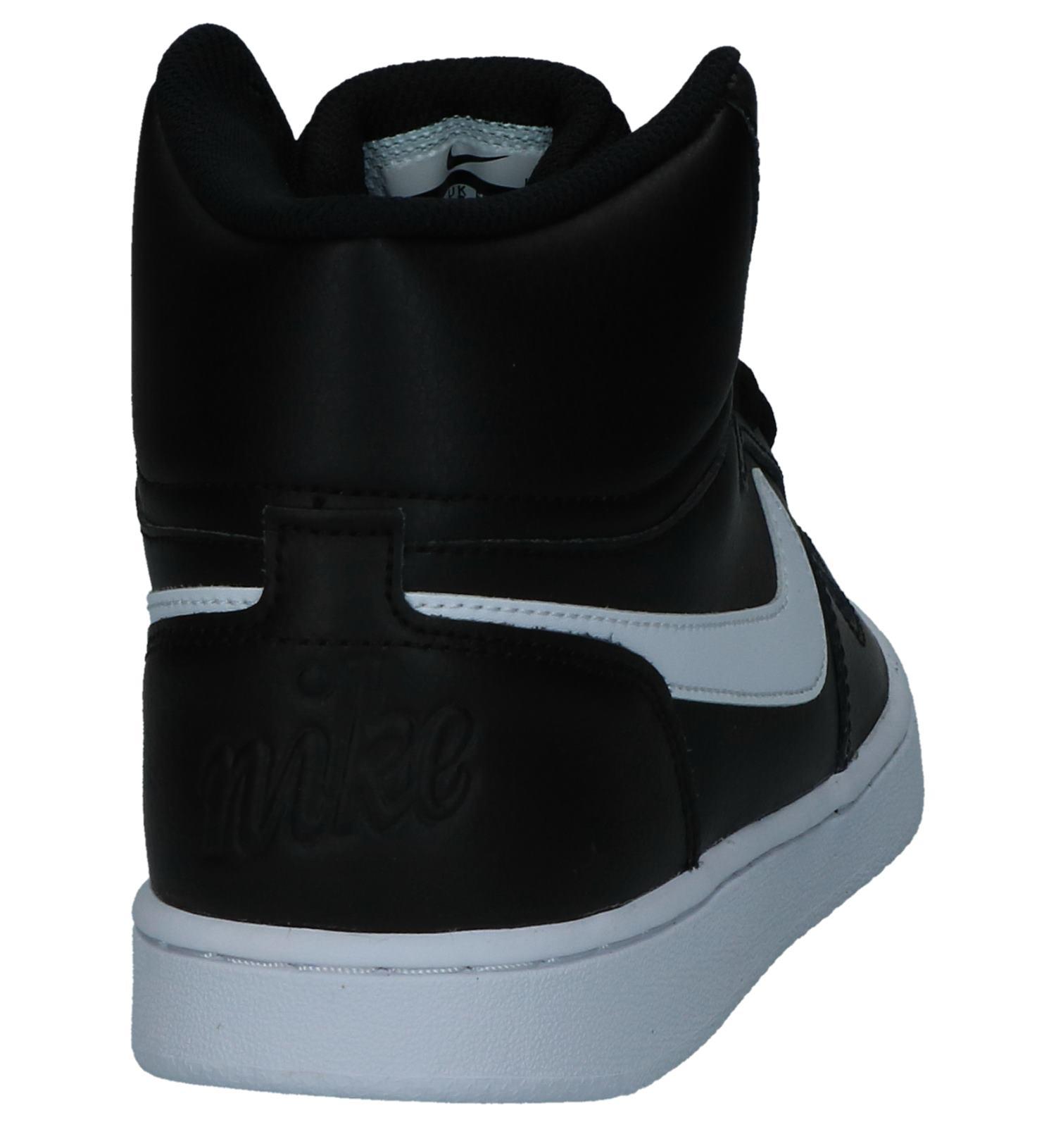 lowest price e966b 3c98d Zwarte Lederen Hoge Sneakers Nike Ebernon Mid  TORFS.BE  Gratis verzend  en retour