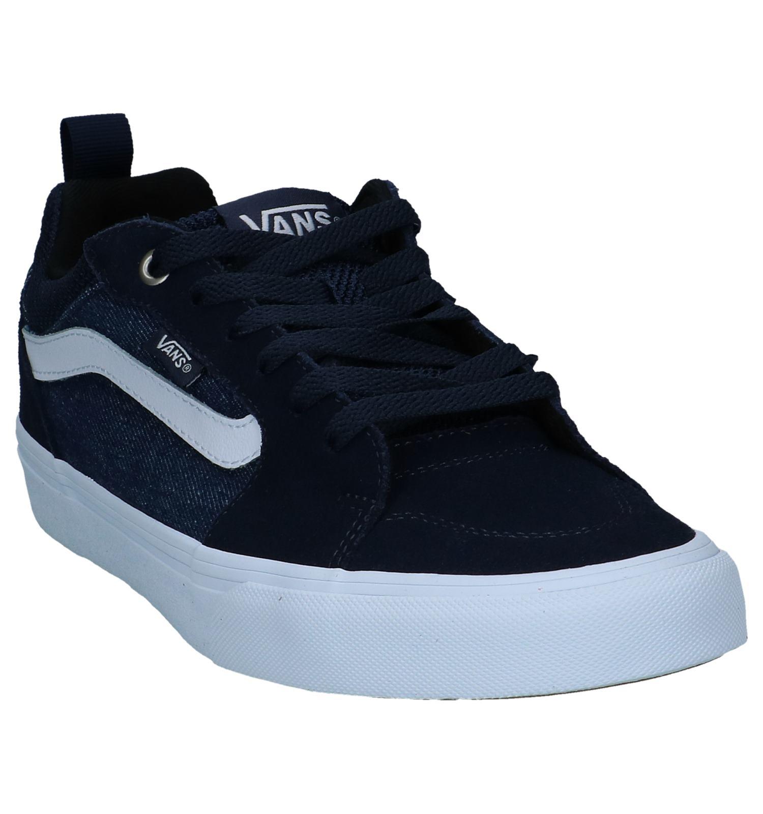 6ae0002d837dc6 Donker Blauwe Lage Skateschoenen Vans Filmore
