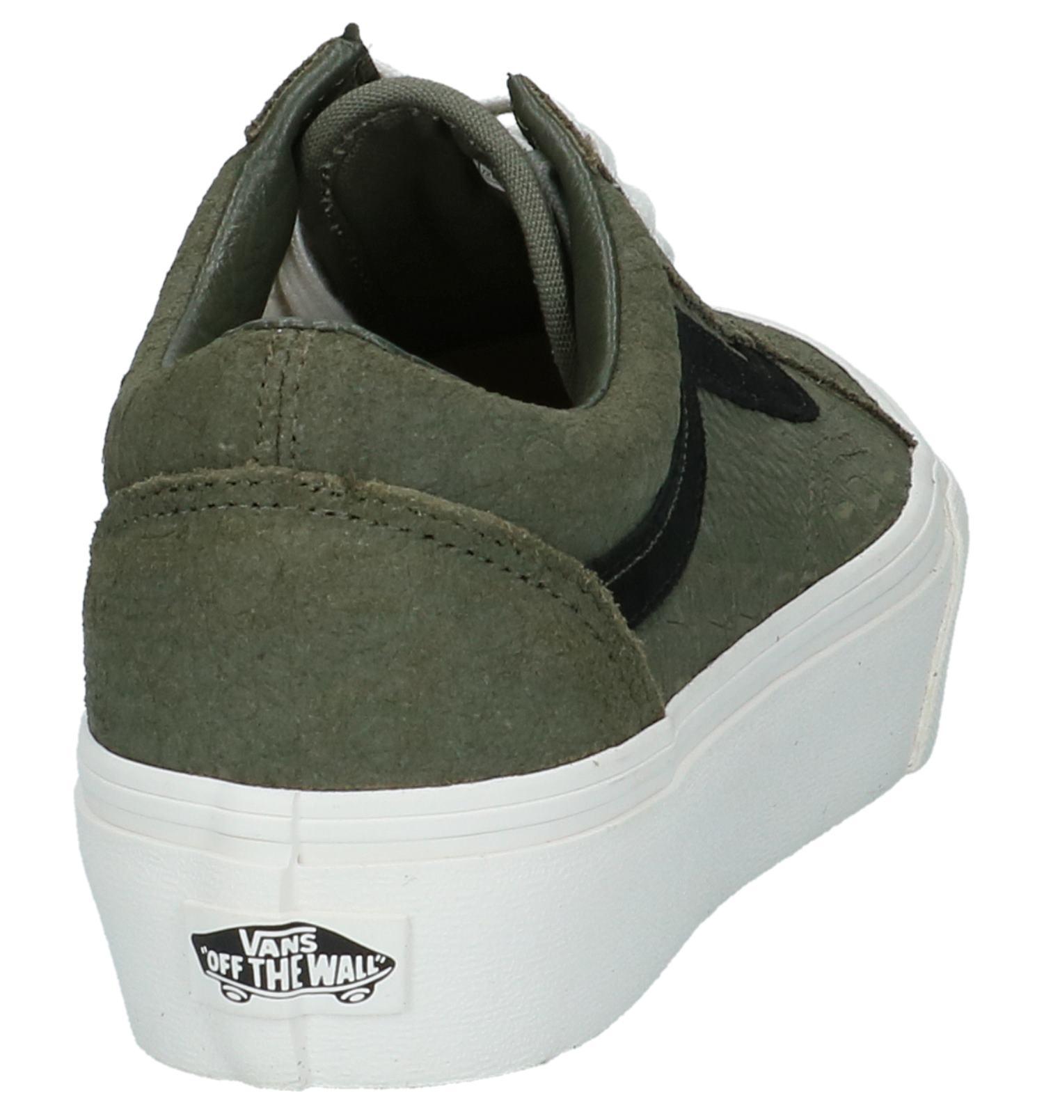 1eabb52ee57 Vans Old Skool Platform Groene Lage Sneakers, Groen, pdp. 360° Vergroten