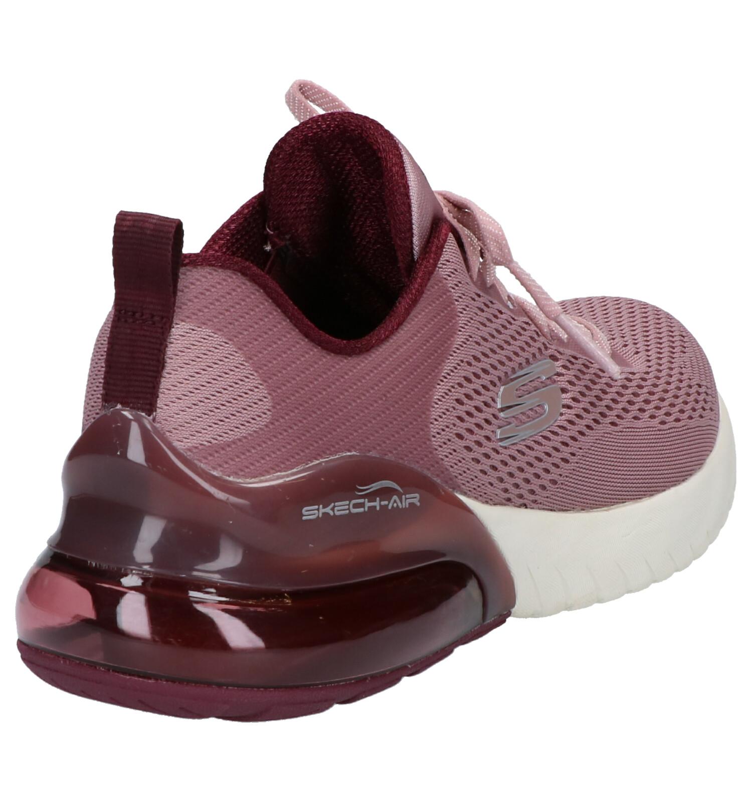 Skechers Knit Stretch Baskets basses en Violet | TORFS.BE