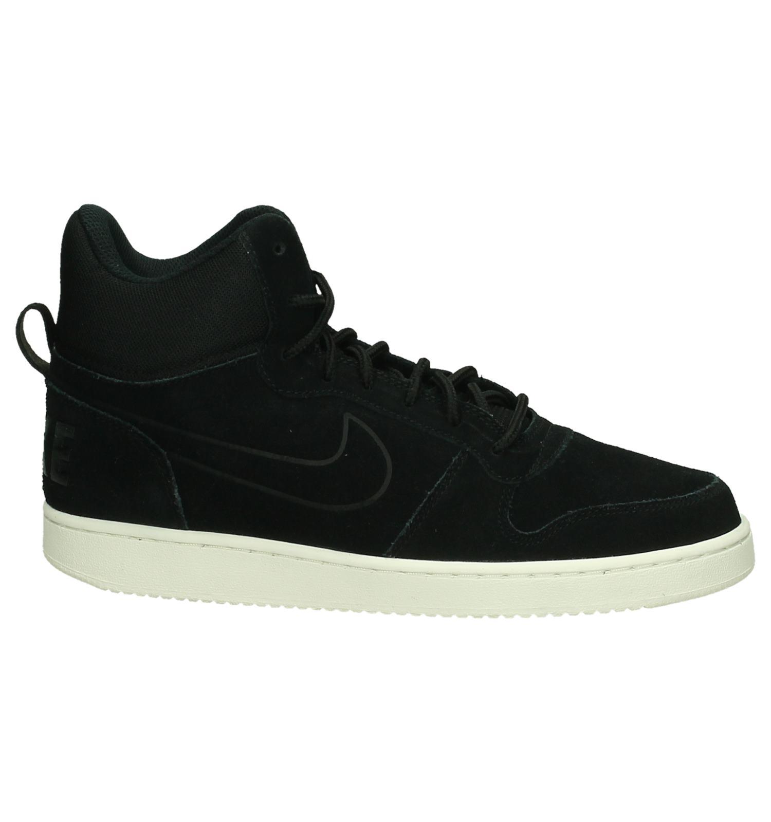 01278208f53 Nike Court Borough Mid Zwarte Sneakers, Zwart, pdp. 360° Vergroten