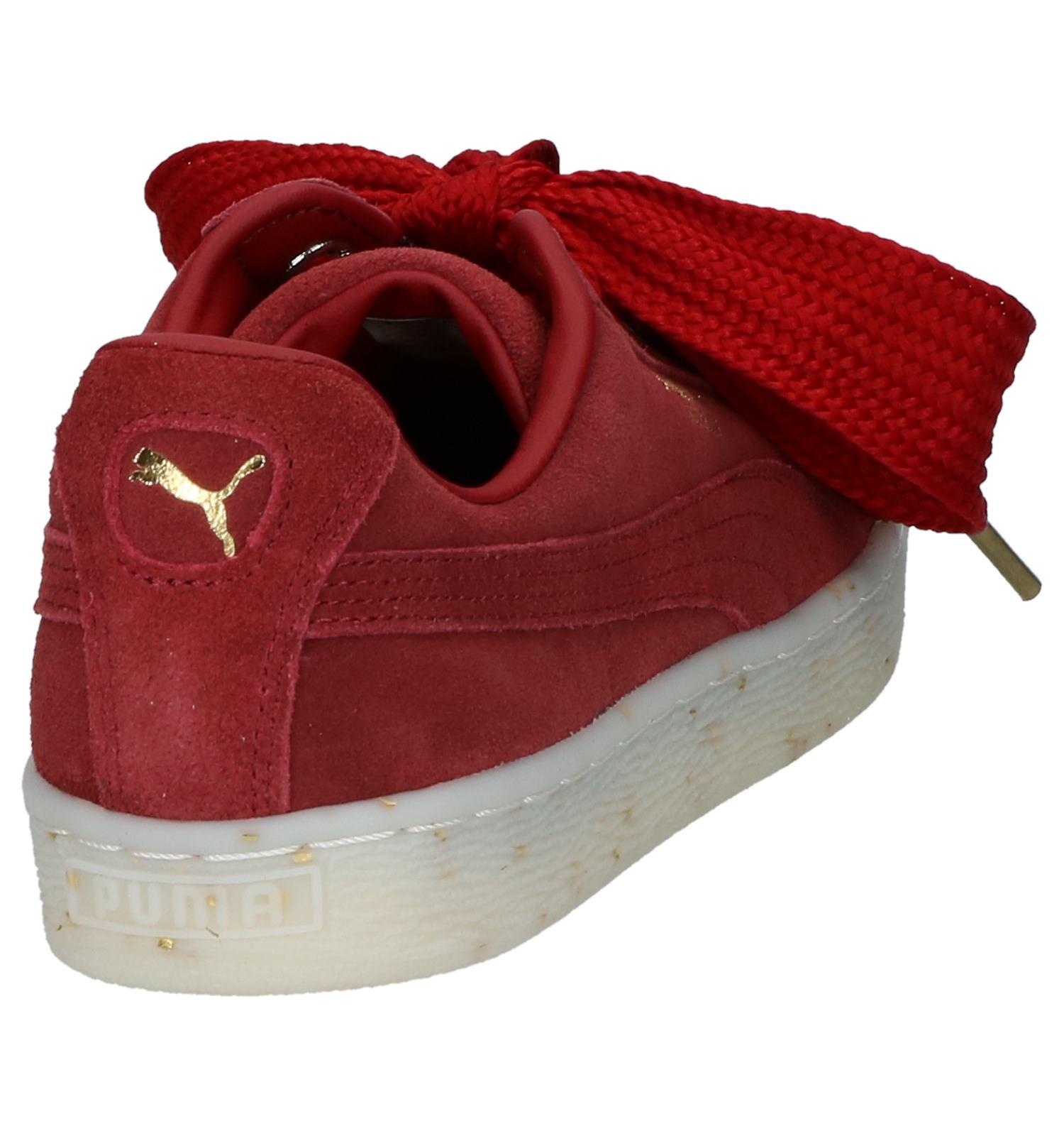 df07ee4ff09 Rode Lage Sportieve Sneakers Puma Suede Heart | TORFS.BE | Gratis verzend  en retour