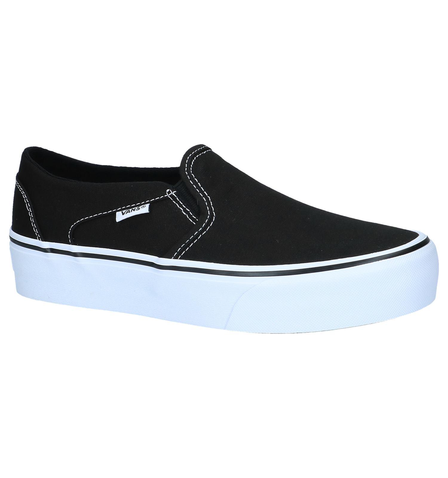 09dd6719af Zwarte Slip-On Sneakers Vans Asher Platform