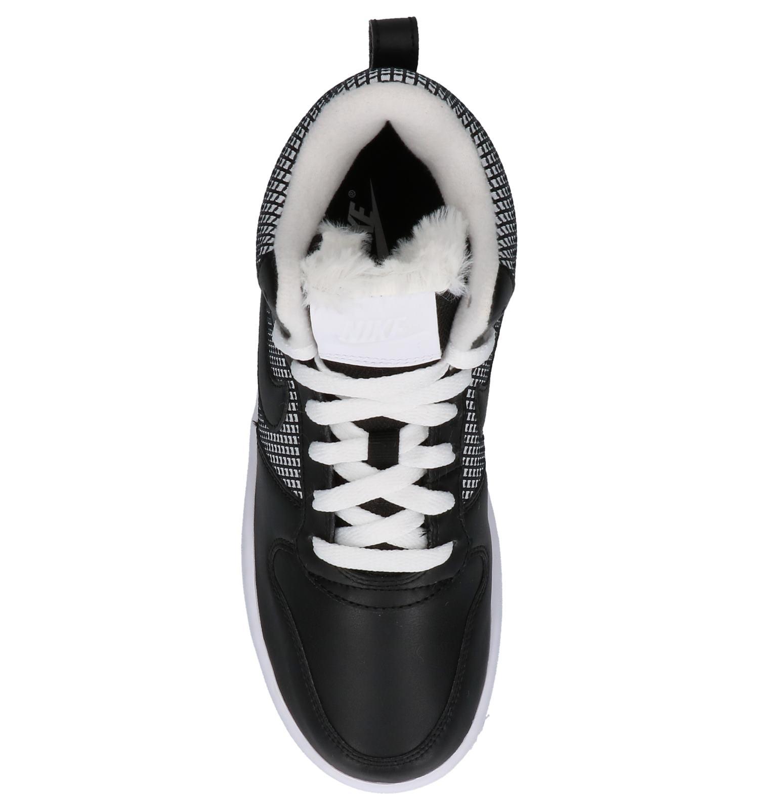 0bbec7f9b5a Hoge Sneakers Nike Court Borough Zwart met Wit | TORFS.BE | Gratis verzend  en retour