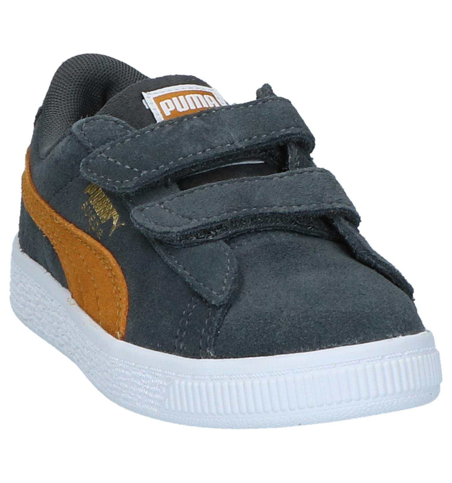 16179b9d91f Puma Suede Classic Grijze Sneakers met Velcro | TORFS.BE | Gratis verzend  en retour
