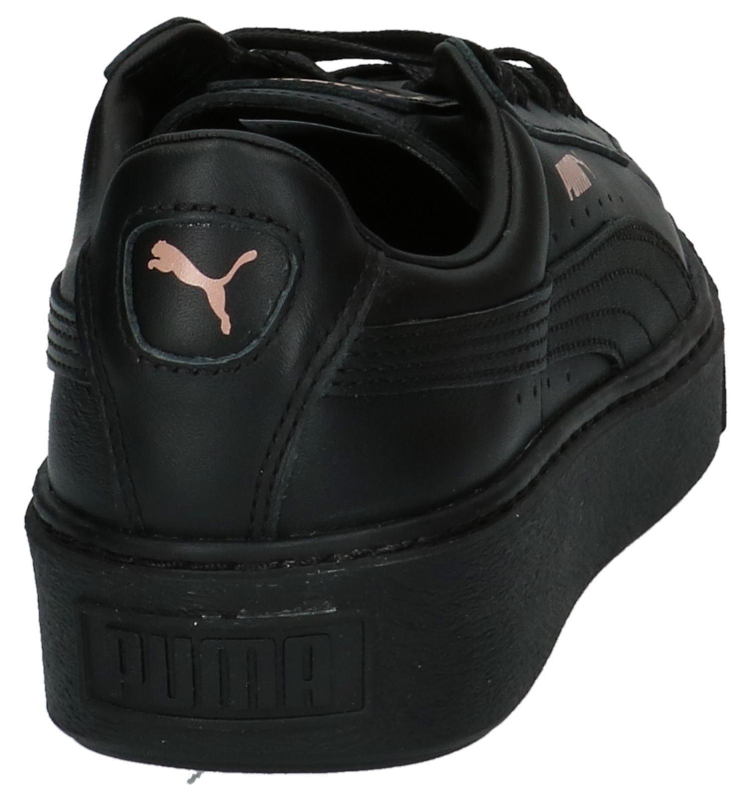 38a4aeeab90 Zwarte Puma Basket Platform Lage Sportieve Sneakers   TORFS.BE   Gratis  verzend en retour