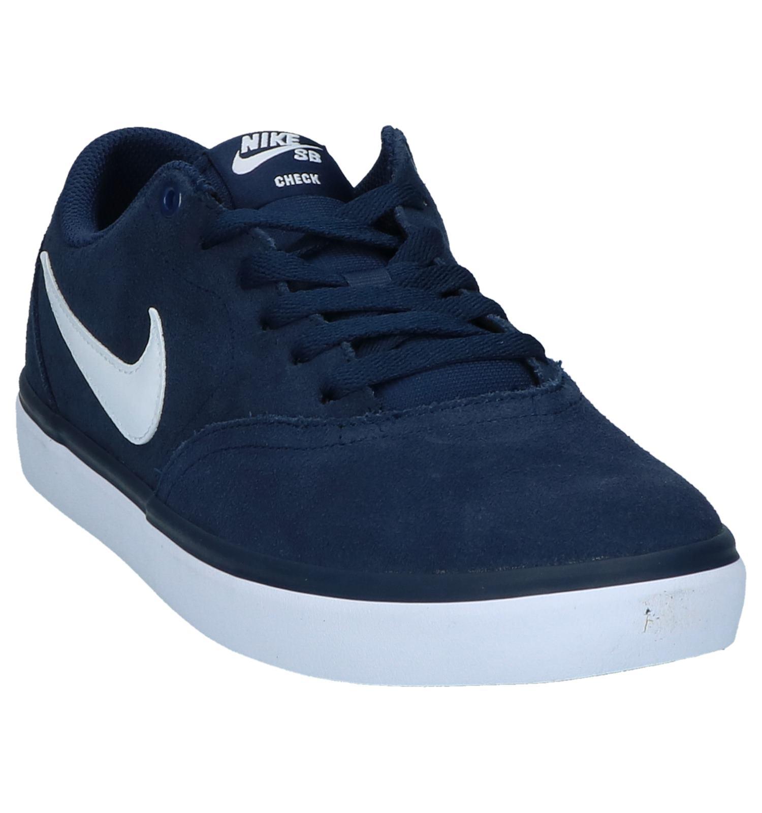 7945d4e35f5d Donkerblauwe Sneakers Nike SB Check Solar