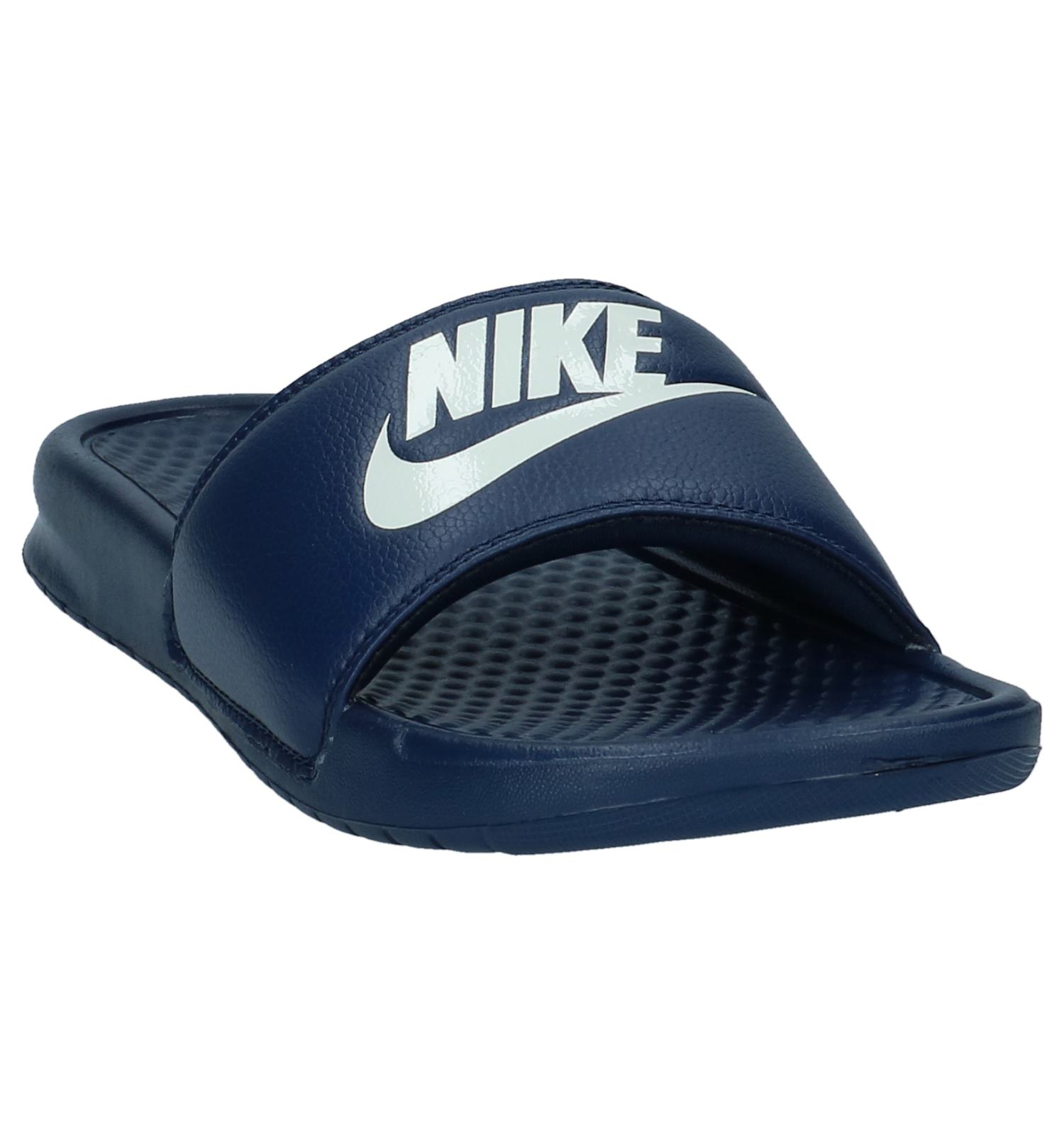38201020972 Sportieve Slippers Donkerblauw Nike Benassi JDI | TORFS.BE | Gratis verzend  en retour
