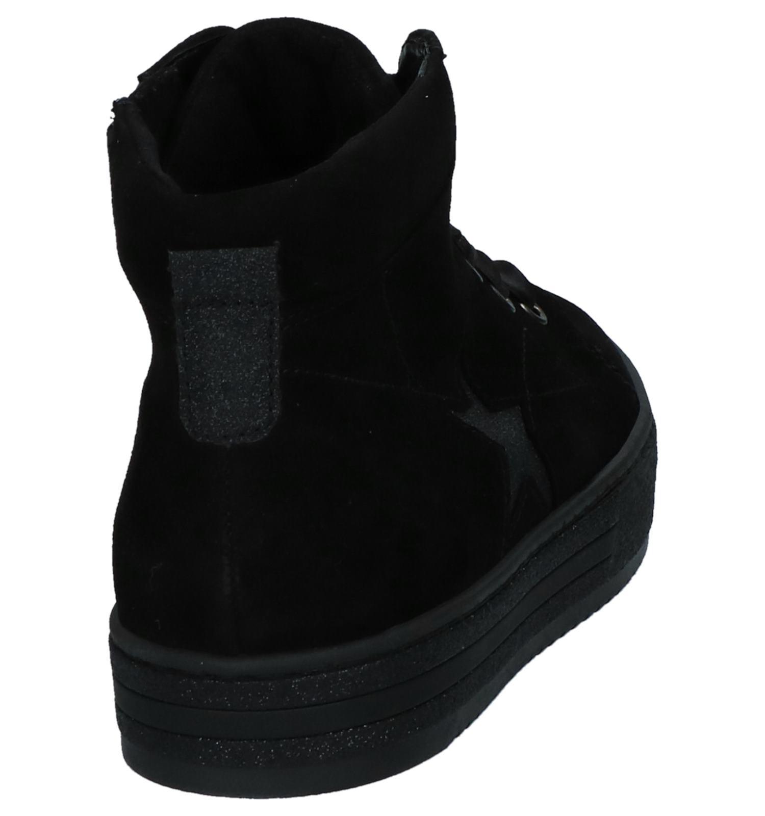 a2272e8c205 Zwarte Gabor Comfort Hoge Sneakers met Rits/Veter | TORFS.BE | Gratis  verzend en retour