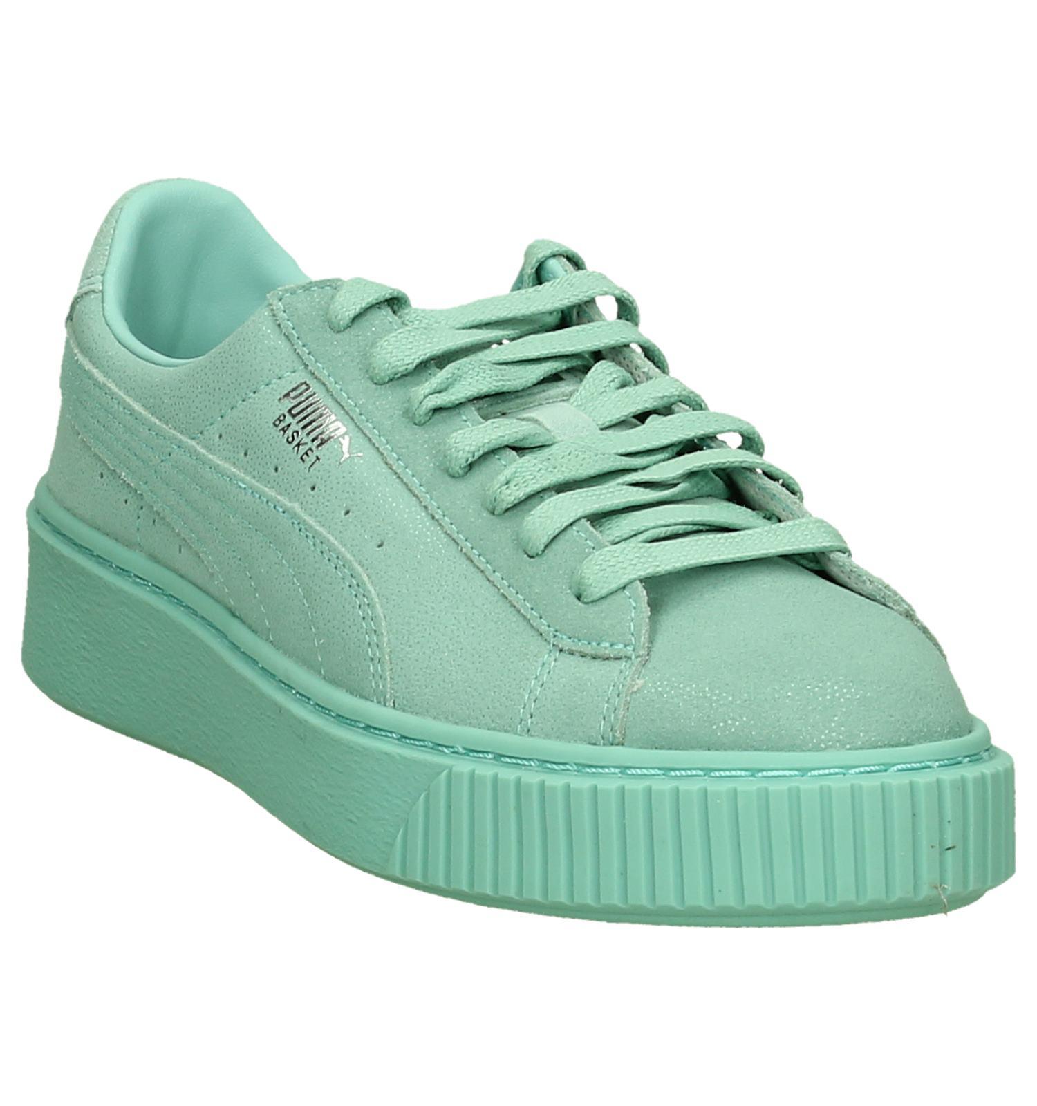 6b57045868c5 Puma Platform Reset Turquoise Sneakers