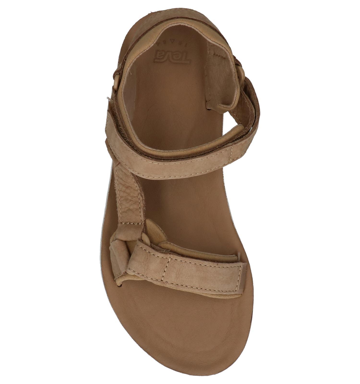Original Universal Sandalen Leather Premier Teva Beige Donker qBt6fPn