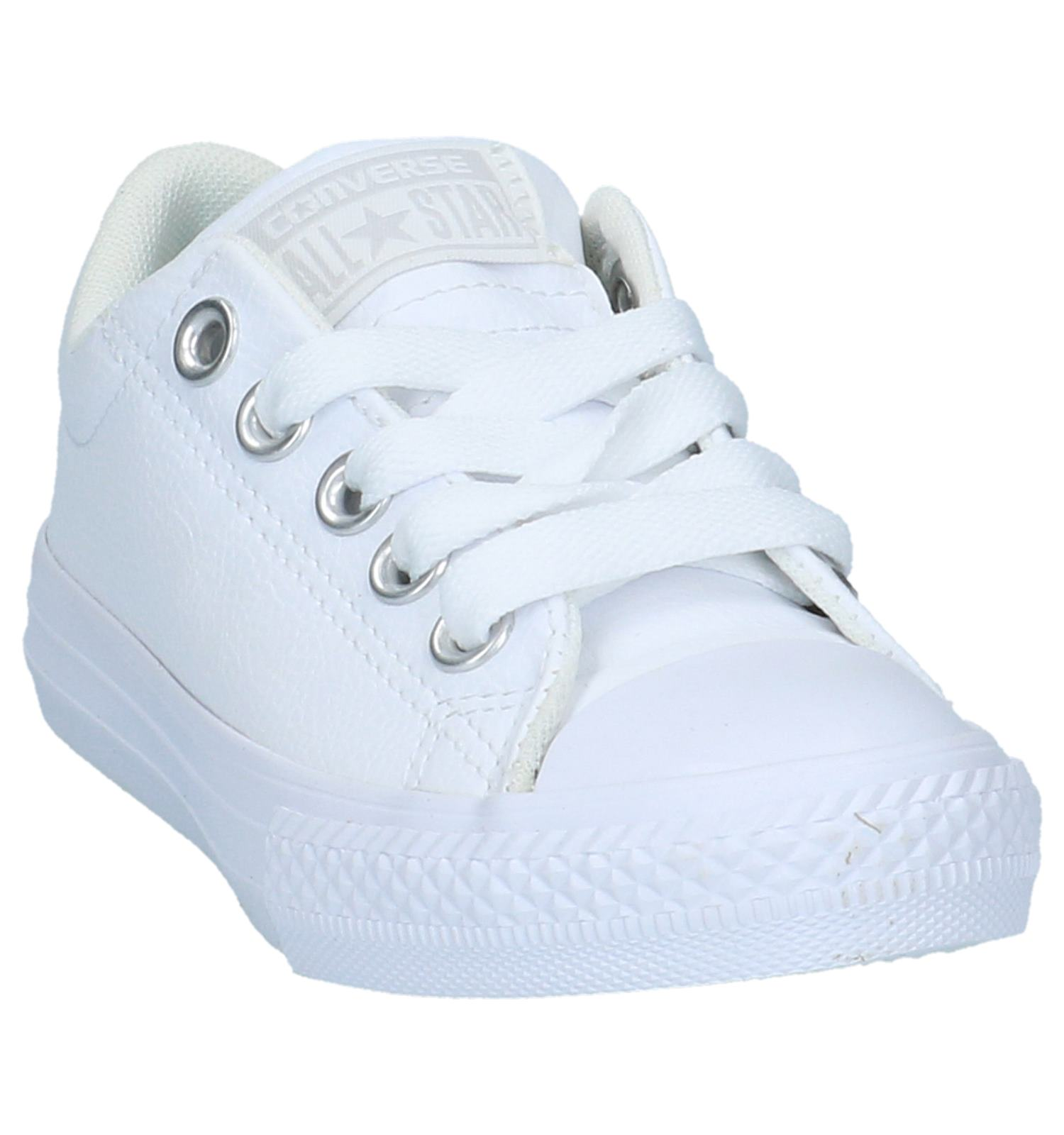 8a4fe017cf3 Witte Lage Sportieve Sneakers Converse All Star Chuck Taylor Street    TORFS.BE   Gratis verzend en retour