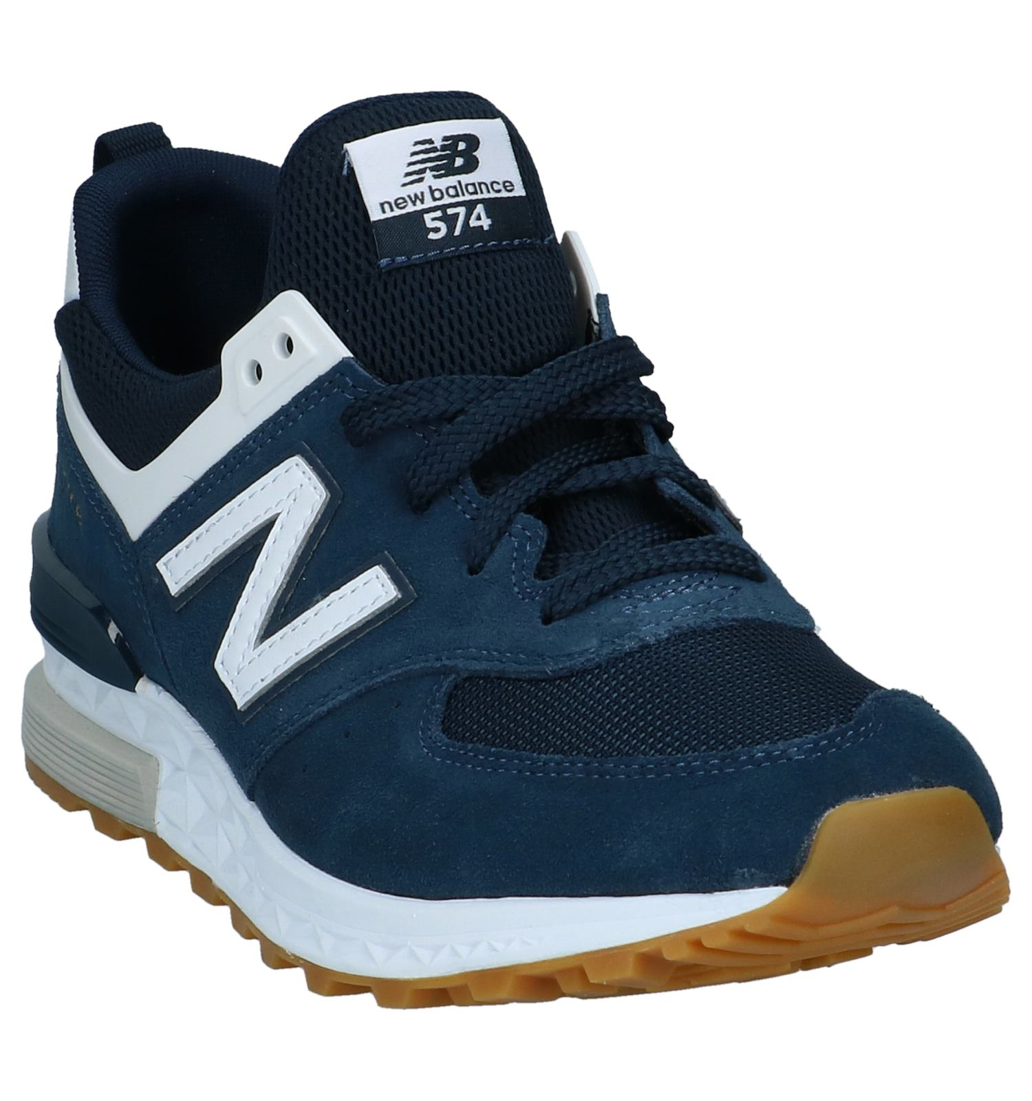 new balance ms574 blauw